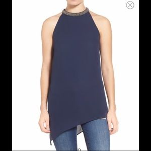 ASTR Beaded High Neck Tank - size Small 💙